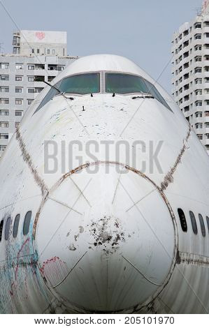 Abandoned Airplane,old Crashed Plane With,plane Wreck Tourist Attraction,old Plane Wreck