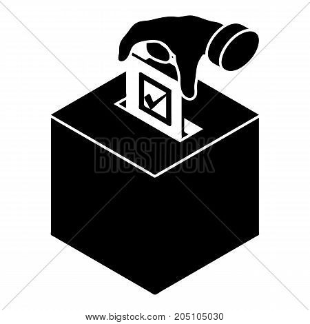Election box icon. Simple illustration of election box vector icon for web design isolated on white background