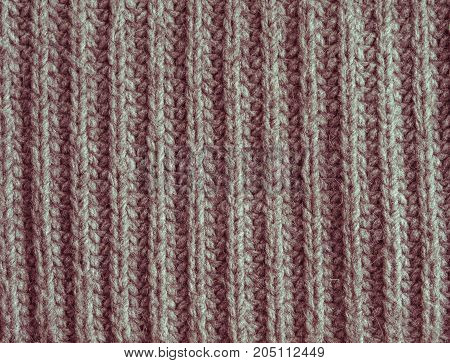 Old Fade Red Or Pink Wool Knitted Texture Abstract Background