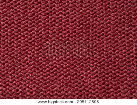 Red Wool Knitted Fabric Texture Abstract Background