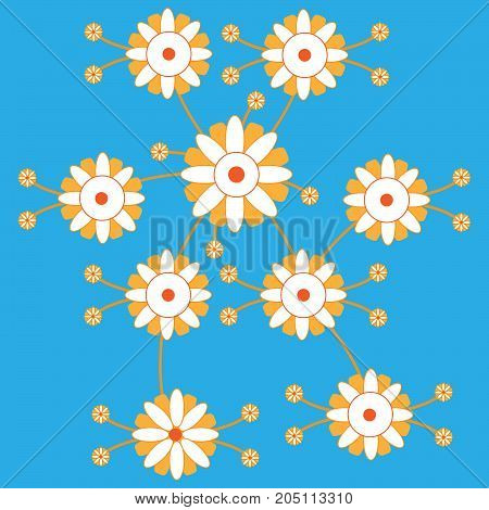 Сolorful flower. Abstract сolorful art for background.