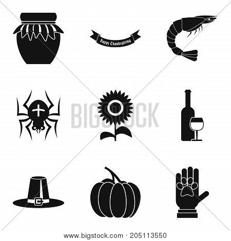 All saints day icons set. Simple set of 9 all saints day vector icons for web isolated on white background
