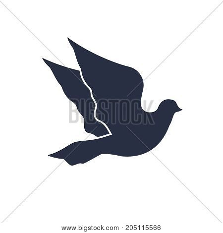Dove icon in trendy flat style isolated on background. Dove icon page symbol for your web site design Peace bird icon logo, app, UI. Dove icon Vector illustration, EPS10.