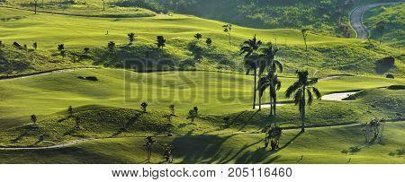 Golf Fields Rainbow Hills Bogor, West Java, Indonesia