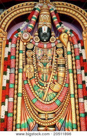 Lord Vishnu In The Form Of Lord Venkateswara