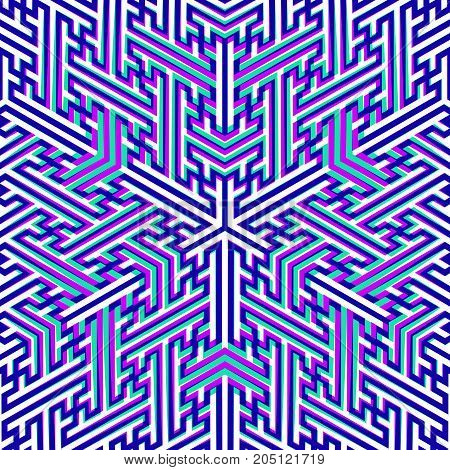 Vector Swastika Ornament Background.