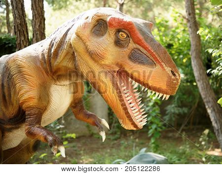 Kemer;Turkey-August 14; 2017: Tyrannosaurus rex-Late Cretaceous /150-65 million years ago. In the Dinopark