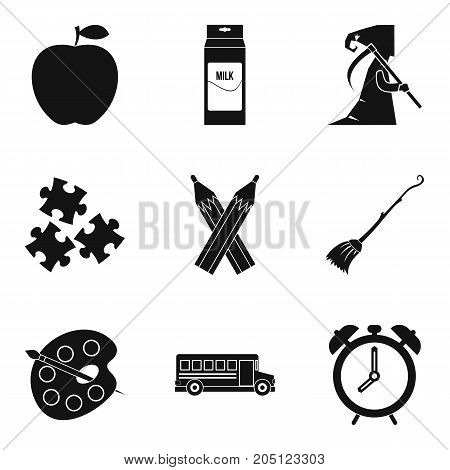 Teachers day icons set. Simple set of 9 teachers day vector icons for web isolated on white background