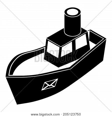 Sea ship delivery icon. Simple illustration of sea ship delivery vector icon for web design isolated on white background