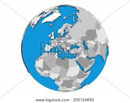 Kosovo On Globe Isolated