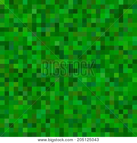 Geometrical abstract square mosaic background - vector illustration from squares in green tones