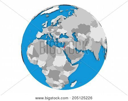 Israel On Globe Isolated
