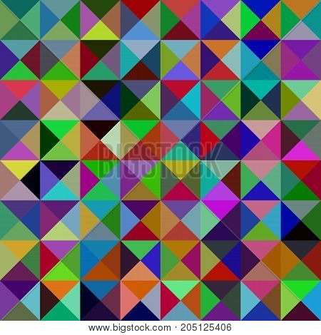 Multicolored geometric abstract triangle mosaic pattern background - vector graphic from triangles