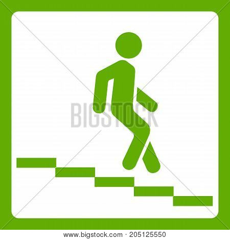 Underpass road sign icon white isolated on green background. Vector illustration