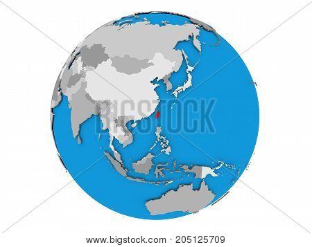 Taiwan On Globe Isolated