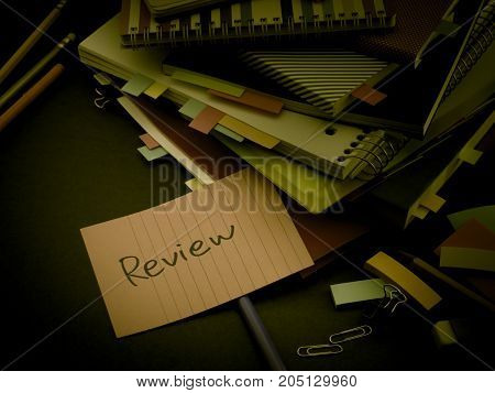 Somebody Left The Message On Your Working Desk; Review