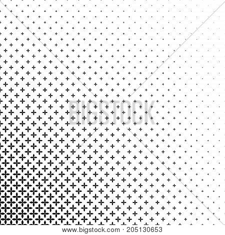 Monochromatic pattern - abstract vector background graphic design from curved geometric shapes