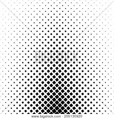 Monochrome square pattern - geometrical abstract vector background design from angular rounded squares