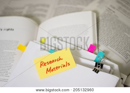 Research Materials; Stack Of Documents With Large Amount Of Reading Material.