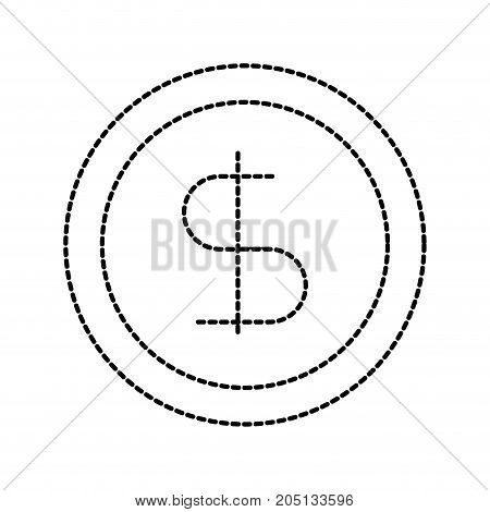 business coin money currrency banking vector illustration