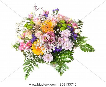 flower bouquet in front of white background