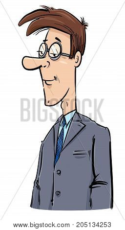 Young Businessman Caricature Drawing