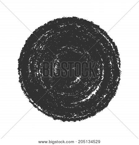 Stamp Grunge Texture. Bold circle distressed background. Badge or insignia element. Logos, Icons or Label template. Empty circular design element. EPS10 vector.