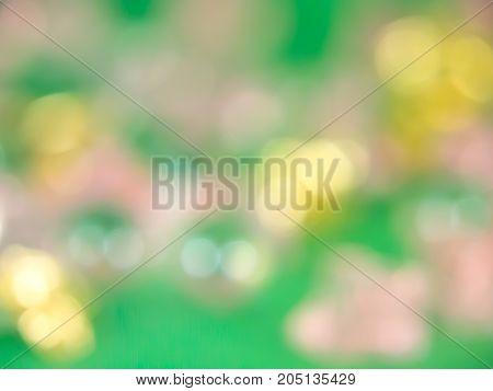 Bokeh Effect ( Green Background )