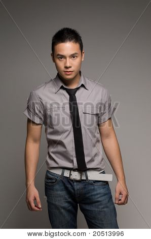 Asian Guy In Tie