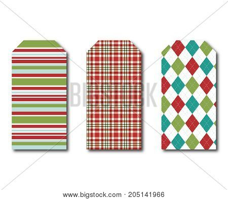 Holiday Gift Tags - Set of three hanging gift tags size 2.875