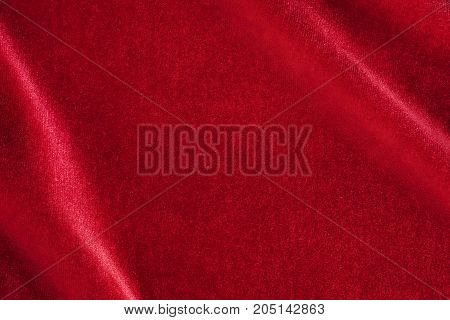 Red Silk Velvet Close Up With Copy Space