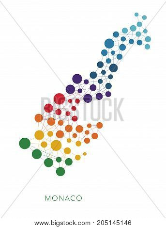 dotted texture Monaco vector rainbow colorful background