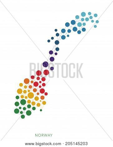 dotted texture Norway vector rainbow colorful background