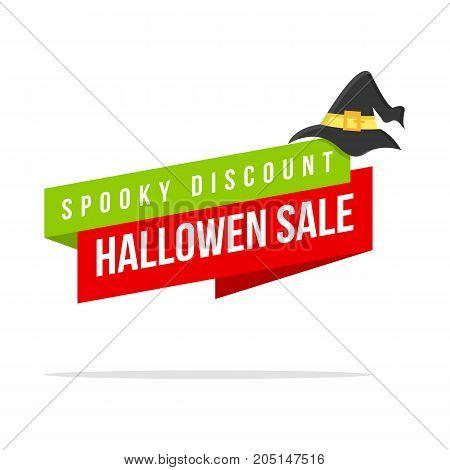 Halloween theme price label style vector illustration