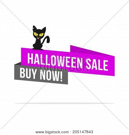 Halloween sale price label collection vector art illustration