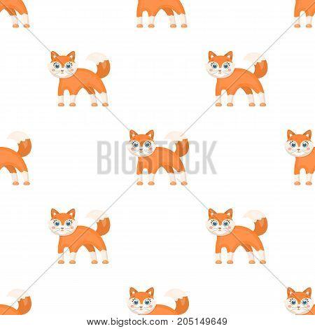 Fox, single icon in cartoon style.Fox, vector symbol stock illustration .