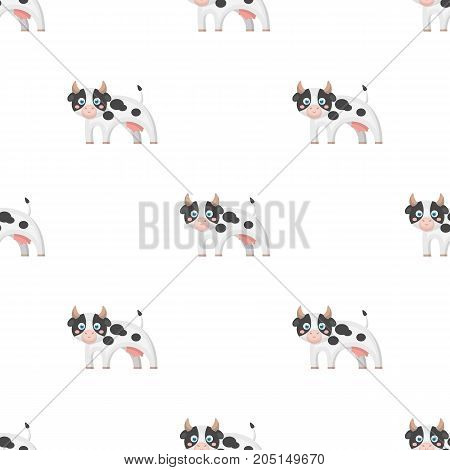 Cow, single icon in cartoon style.Cow, vector symbol stock illustration .
