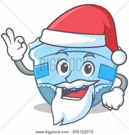 Santa baby diaper character cartoon vector illustration