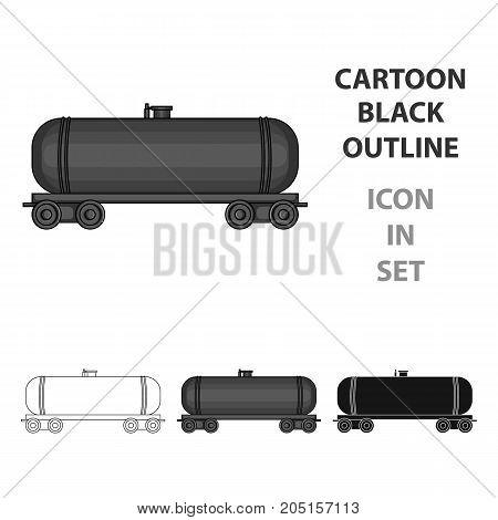 Railway tank car.Oil single icon in cartoon style vector symbol stock illustration .