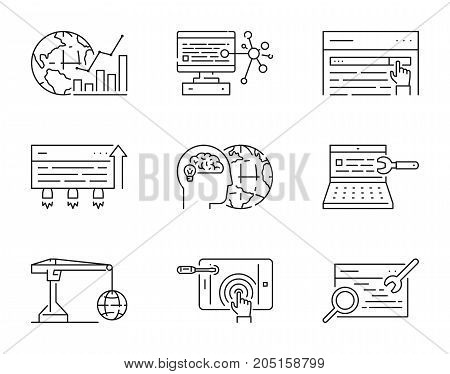 Set Linear Icons Vector Photo Free Trial Bigstock