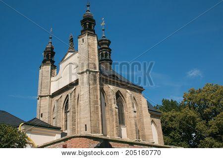 Kostnice Sedlec church in Kutna Hora, Bohemia