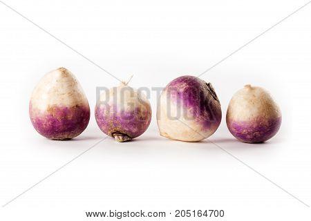turnips isolated on white background studio photo