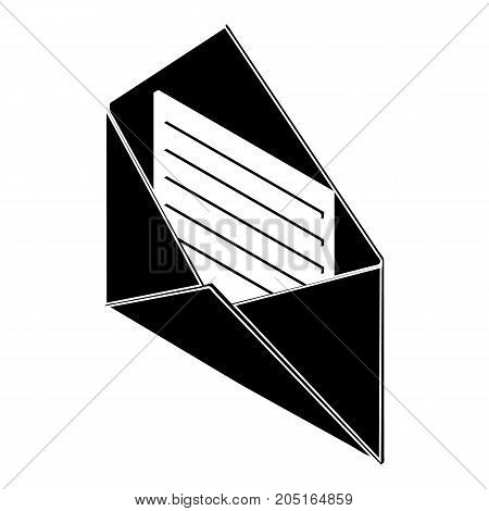 Open envelope icon. Simple illustration of open envelope vector icon for web design isolated on white background