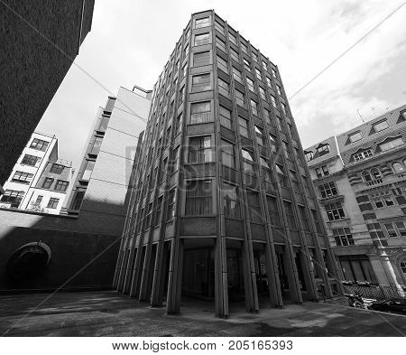 Economist Building In London Black And White