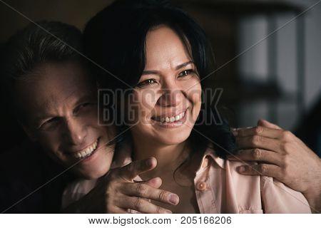 Happy Multiethnic Couple