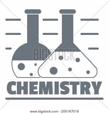 Chemistry logo. Simple illustration of chemistry vector logo for web