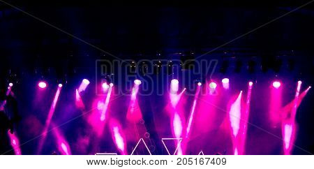 Stage lights on concert. Concert light show