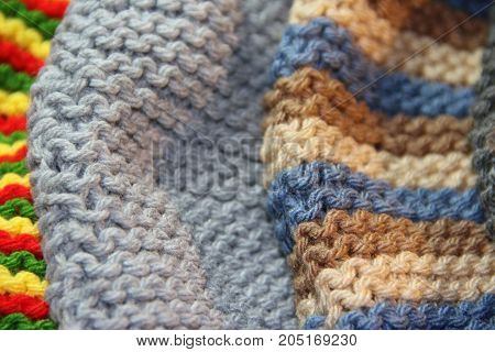 tricot woven with two needles winter wool
