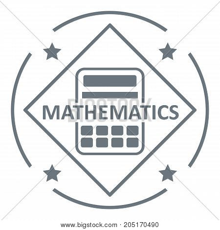 Mathematics logo. Simple illustration of mathematics vector logo for web