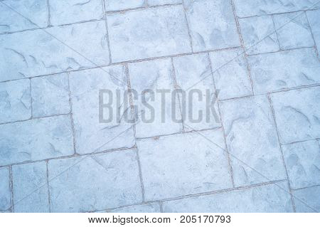 Paving slab different size on a walking path